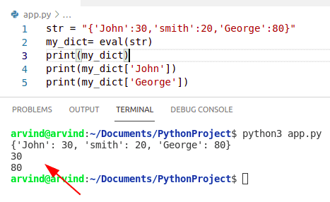 Python creates a string from dictionary