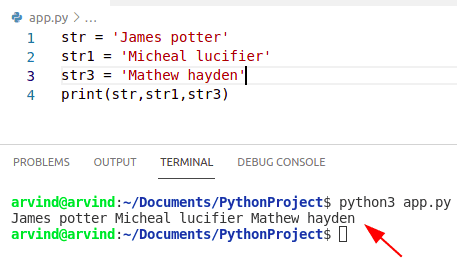 Python creates string with multiple variables