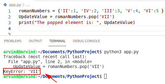 Python default parameter is not specified