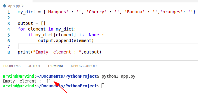 Python dict filter empty values