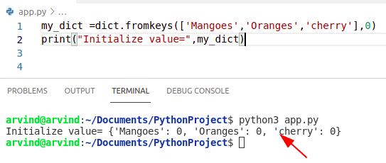 Python dictionary Initialize to 0