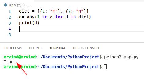 Python dictionary index exists