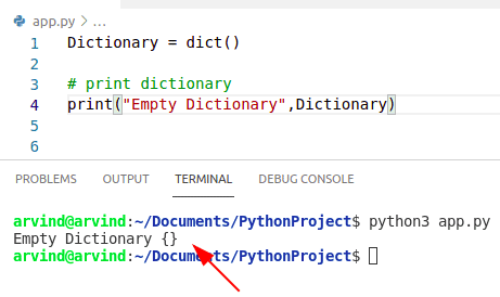 Python dictionary initialize by dict method