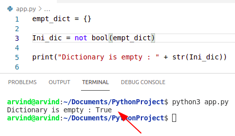 Python dictionary initialize if empty bool method