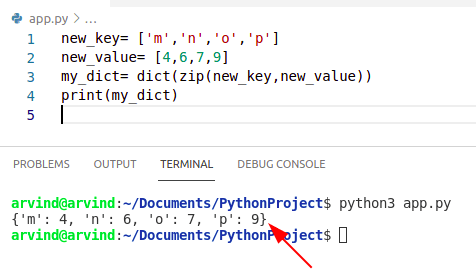 Python dictionary initialize with keys and values
