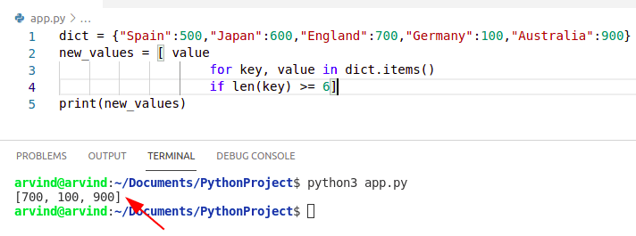 Python dictionary specific values to list