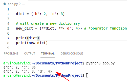 Python dictionary update opeartor