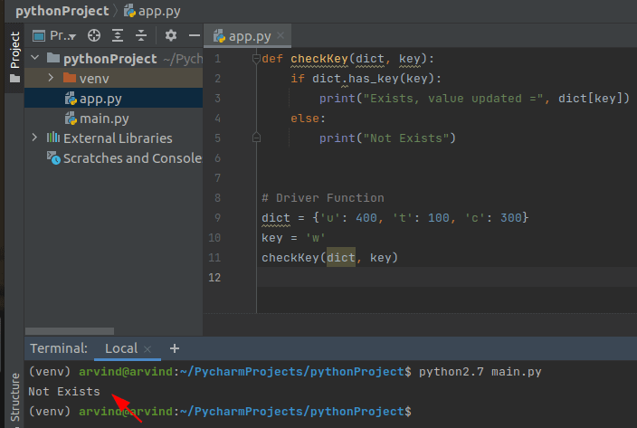 Python dictionary update value if key exists has_key method
