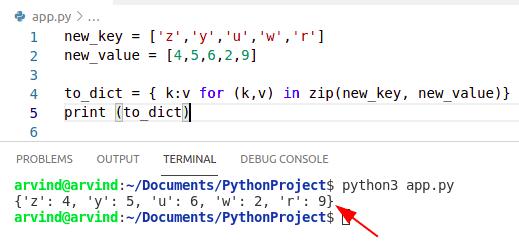 Python initialize dictionary list comprehension