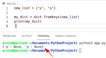 Python initialize dictionary with keys