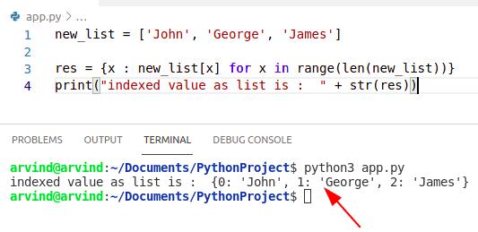 Python list dict find index