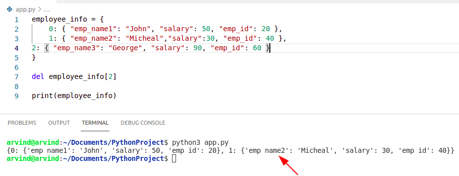 Python nested dictionary update