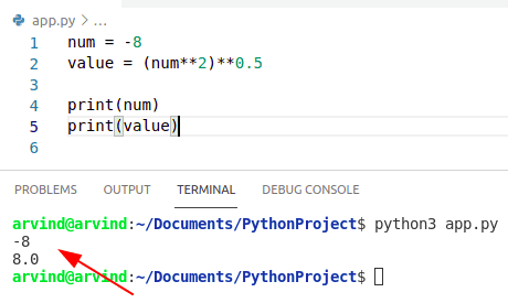 Python numpy absolute value without function