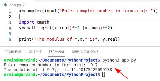 Python numpy absolute value complex number alternatiive method