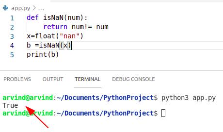 Python numpy nan compare