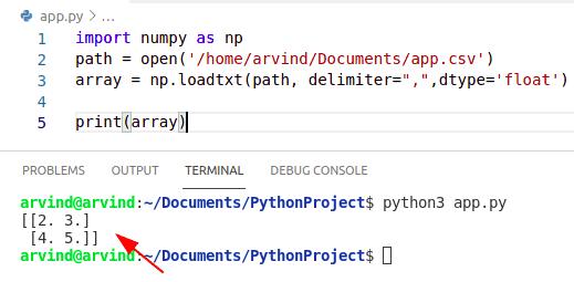 Python numpy read CSV datatype