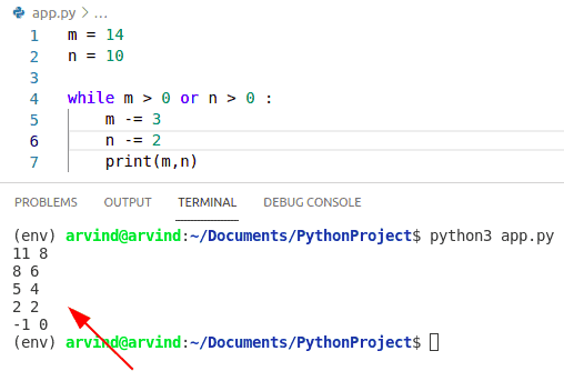 Python while loop multiple condition by or operator