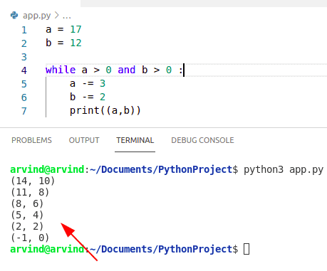 Python while loop multiple conditions