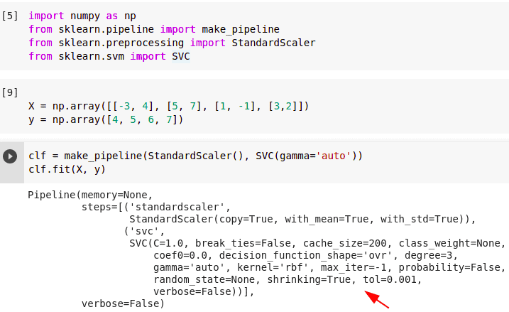 valueerror: setting an array element with a sequence sklearn