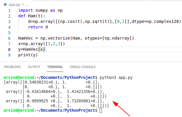 valueerror setting an array element with a sequence np.vectorize