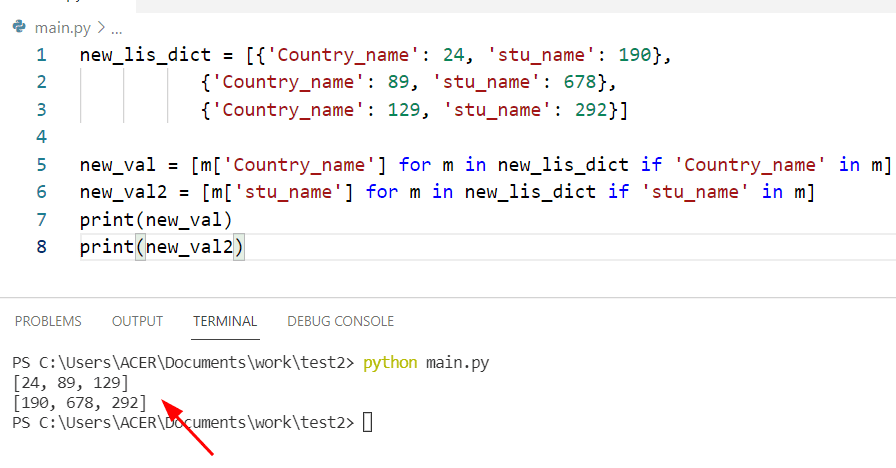 Get all values from list of dictionary Python
