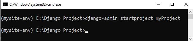 How to create Django project using cmd