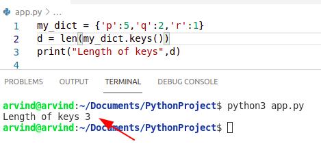 Python dictionary key length performance