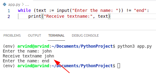 Python assignment in while loop condition