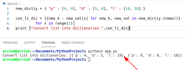 Python convert dictionary to list of dictionaries