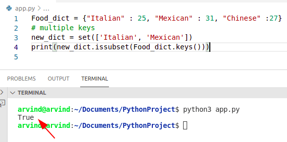 Python dictionary contains multiple keys