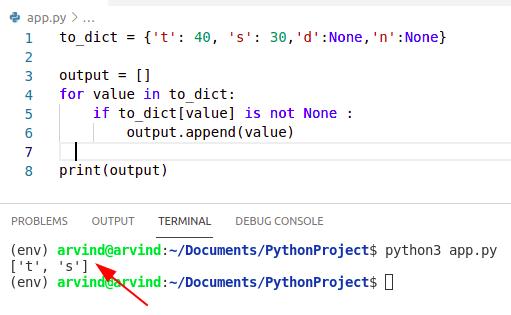 Python dictionary remove none values