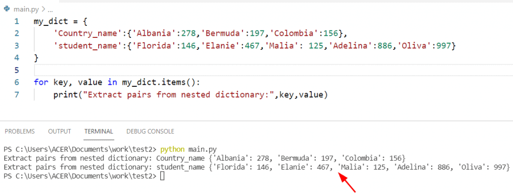 Python get all key values from nested dictionary