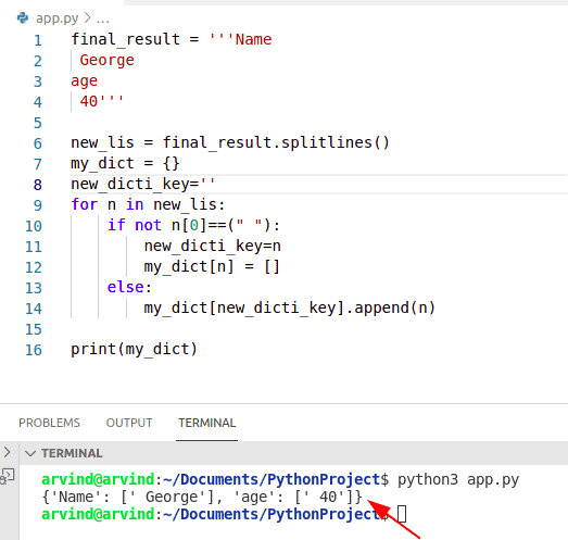 Python loop through list add to dictionary