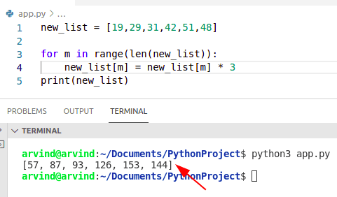 Python loop through list and change values