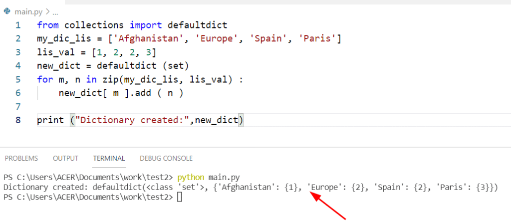 Python program to create a dictionary from two lists without losing duplicate values