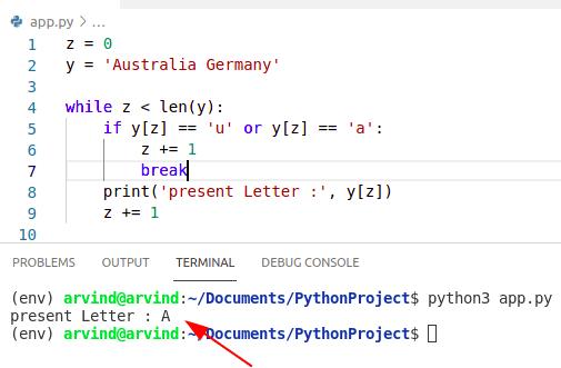 Python while loop break condition method