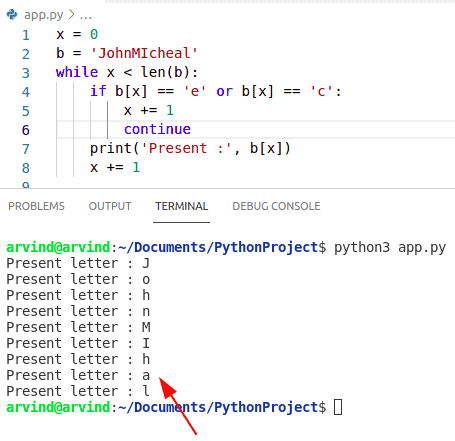 Python while loop condition at the end