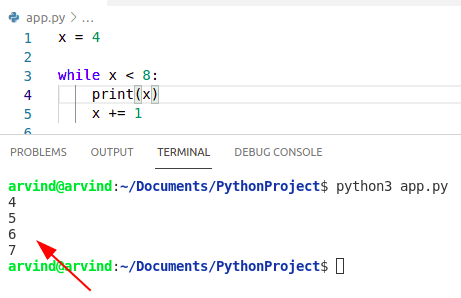 Python while loop condition