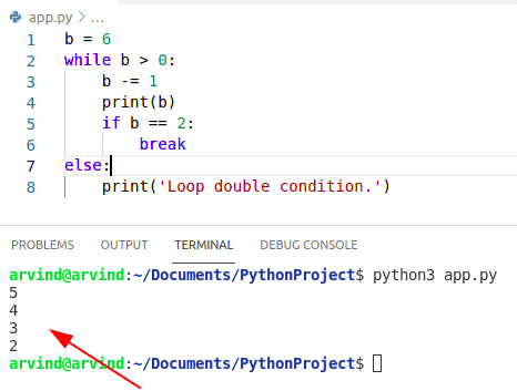 Python while loop double condition