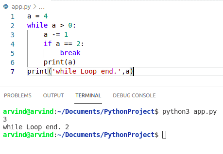 Python while loop exit condition