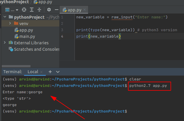 Solution for raw_input not working in python