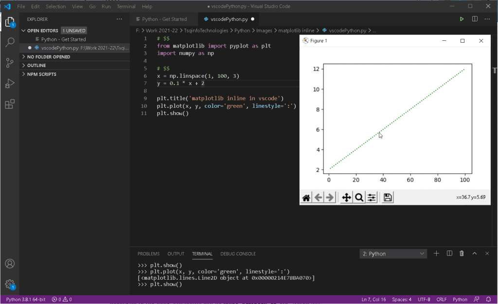 matplotlib inline in vscode