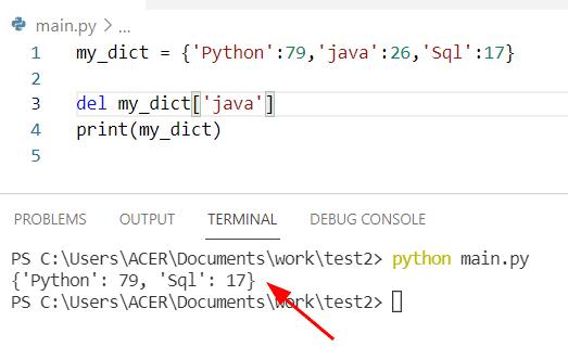 python del keyword