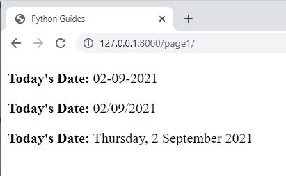 How to get current date in django template