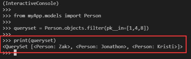 Python Django filter in