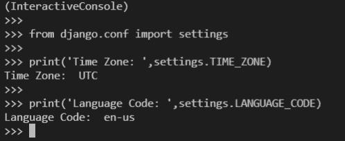 Python Django get settings variable