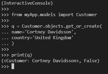 Python Django get_or_create