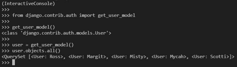 Python Django get_user_model