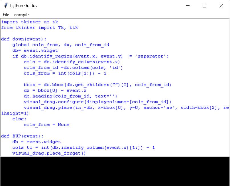 Python Tkinter Online editor