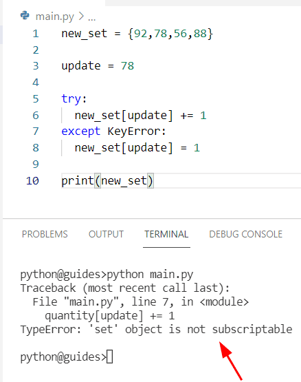 Python dict increment value or set